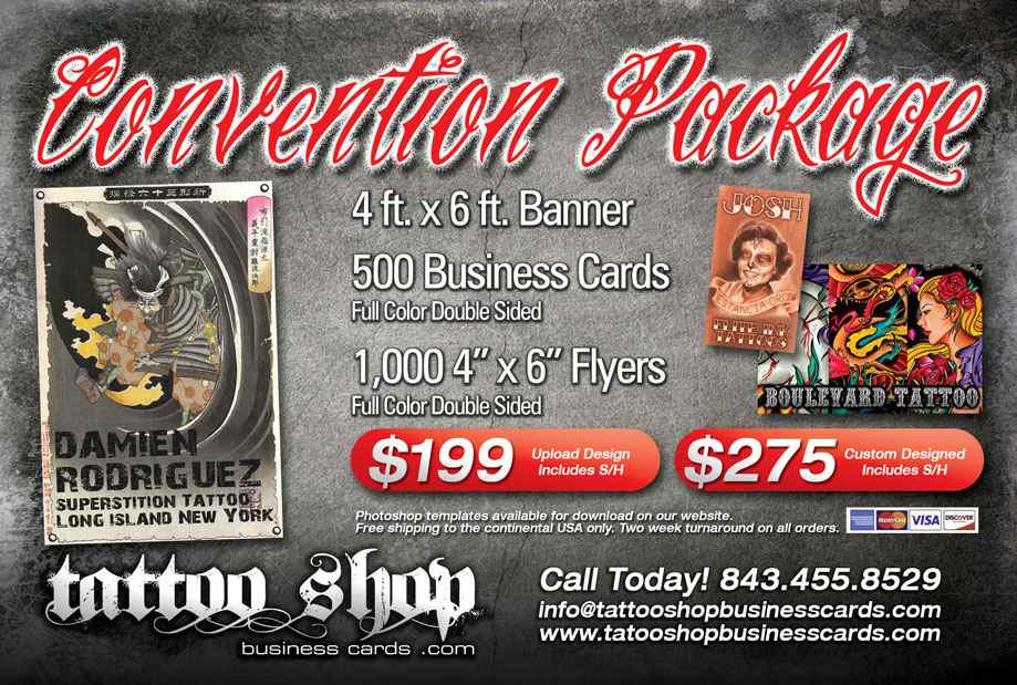 Convention Packages | Tattoo Shop Business Cards