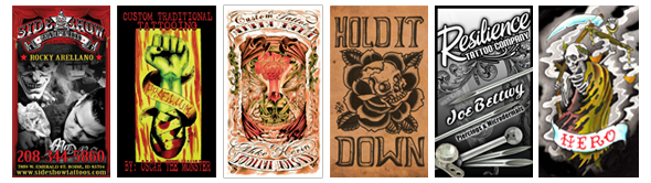 Tattoo shop business cards design and printing for the tattoo and business cards all pricing below includes free shipping flashek Images